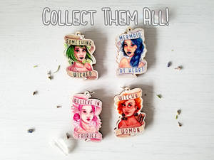 Mystical Ladies Wooden Charms
