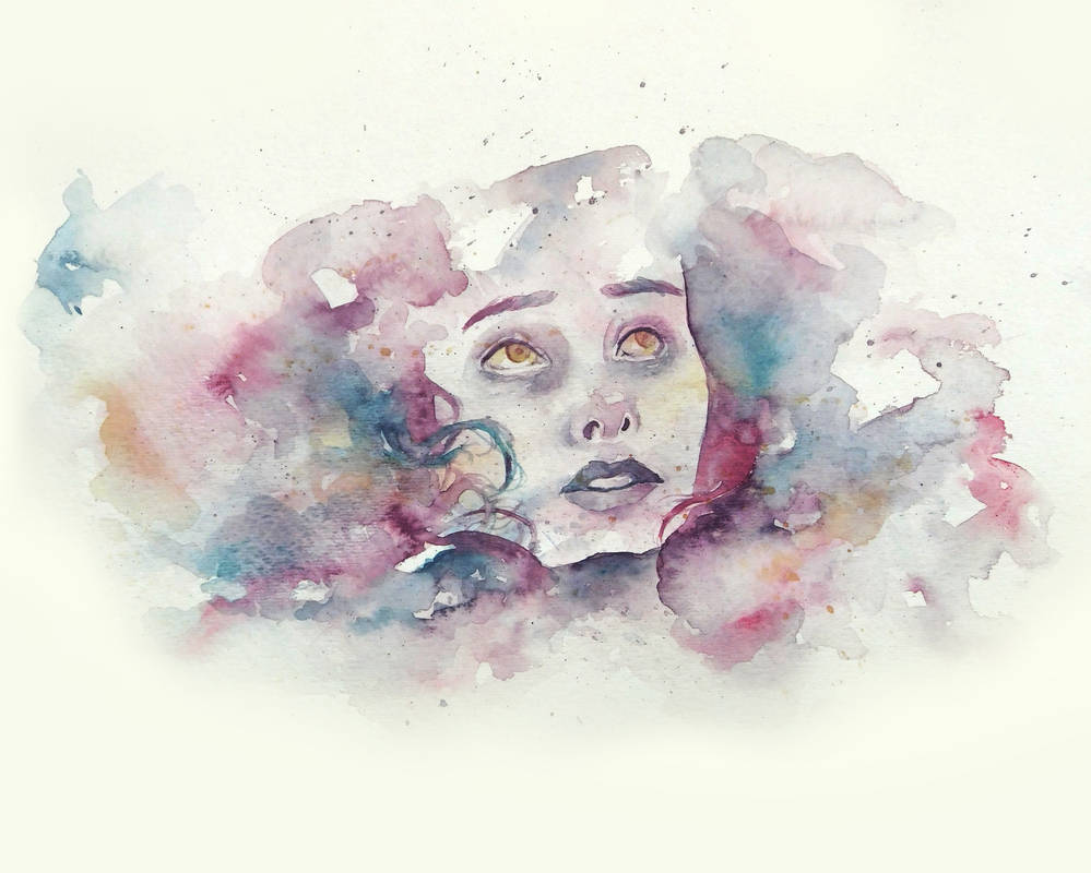 Watercolor Portrait II by Monique--Renee