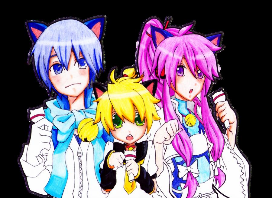 Gakupo and len and kaito e u e by PamCitoGackpoid on ... Kaito X Len X Gakupo
