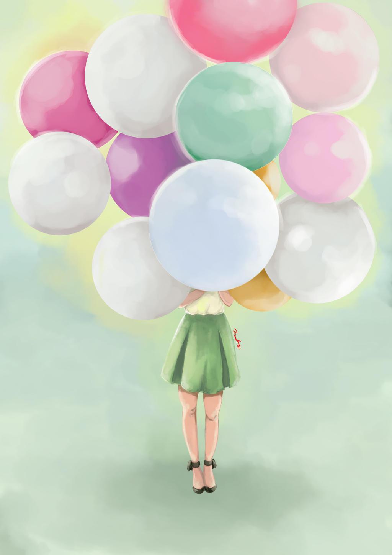 Practice : Balloon Girl by qhaqa on DeviantArt