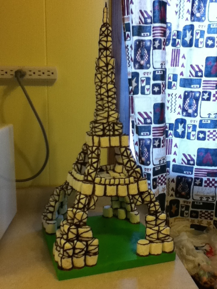 Marshmallow Chocolate Eiffel Tower By Red8errie On Deviantart