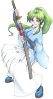 Akari with Katana by nalina