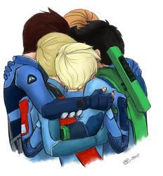 Tracy Brother Group Hug