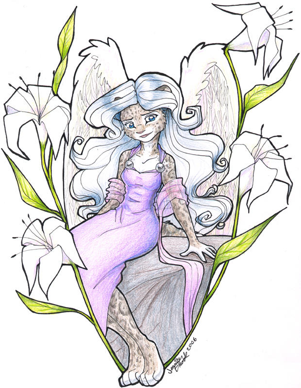 Artemis with Lilies