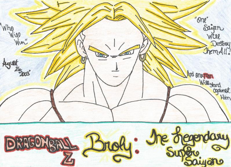 DBZ Broly: The Legendary Super Saiyan Movie Poster by KrazyKat22
