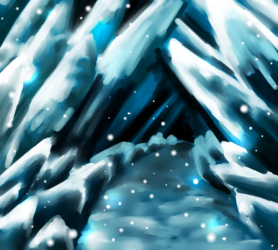 Snowy cave Free Stock by B-G-P on DeviantArt