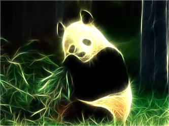 Fractal Panda Wallpaper by PimArt