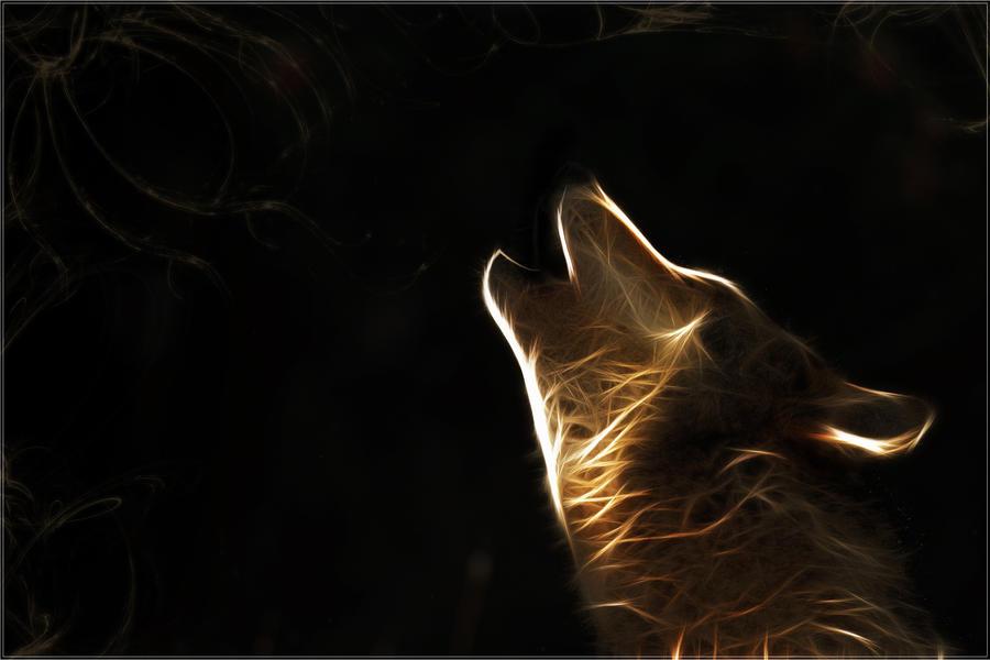 обои на рабочий стол абстракция волк № 639787  скачать