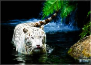 Fractal White Tiger by PimArt
