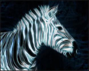 Fractal Zebra Wallpaper by PimArt