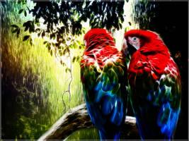 Paradise Parrots by PimArt