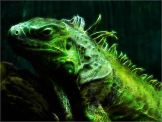 Iguana Fractal Wallpaper by PimArt