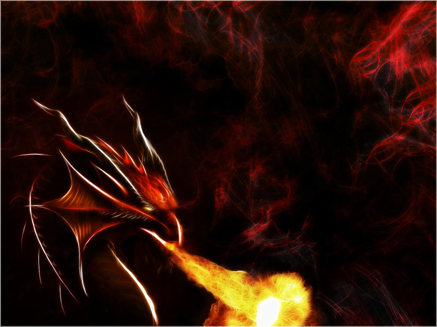 Fractal Dragon Wallpaper by PimArt
