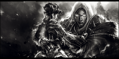Death Knight: Black and White by undeadorcjerk