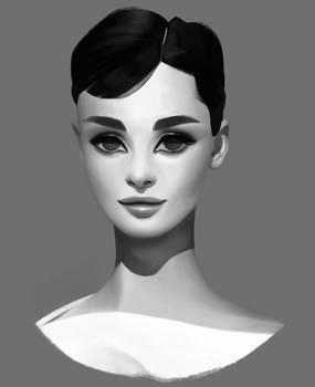 Audrey Hepburn study