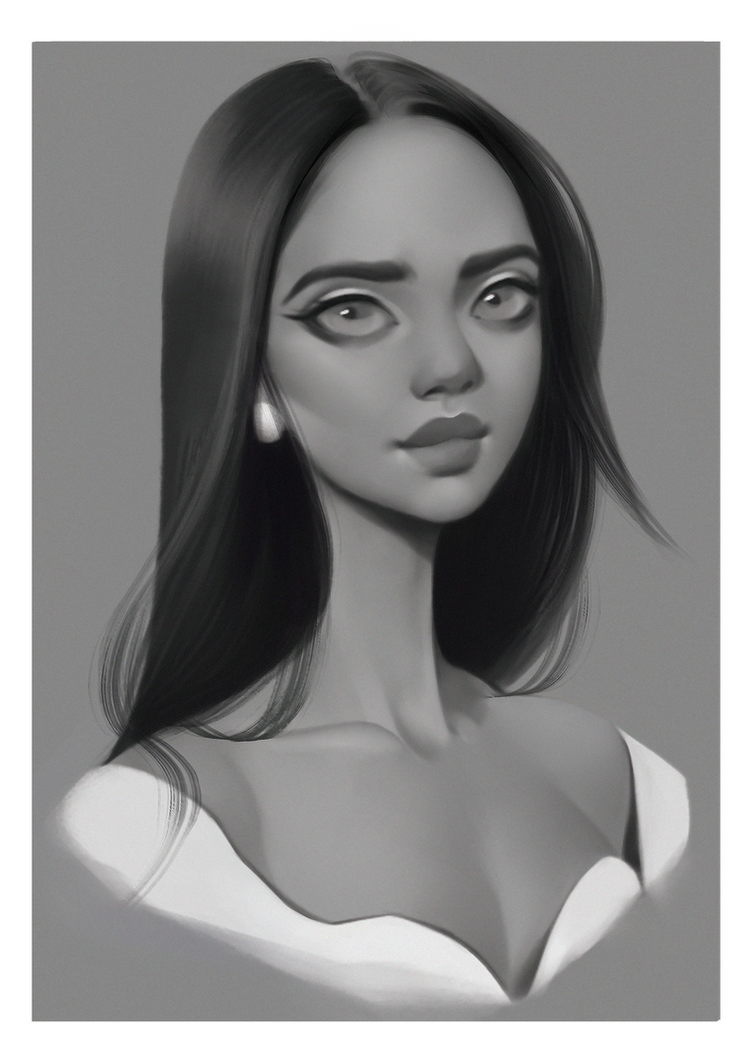 Twitch girl portrait by Amethylia