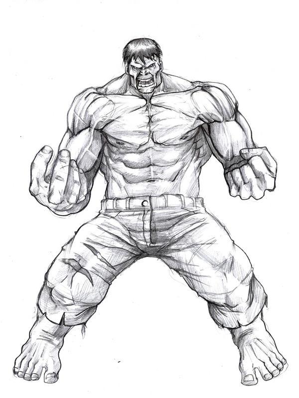 Hulk Sketch By Valencia-art On DeviantArt