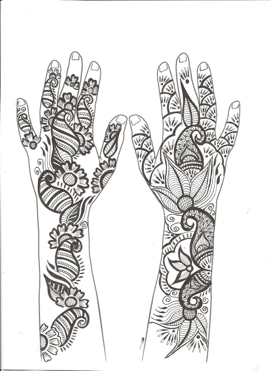 Floral Arabic Mehndi Design by sargamguptaa on DeviantArt