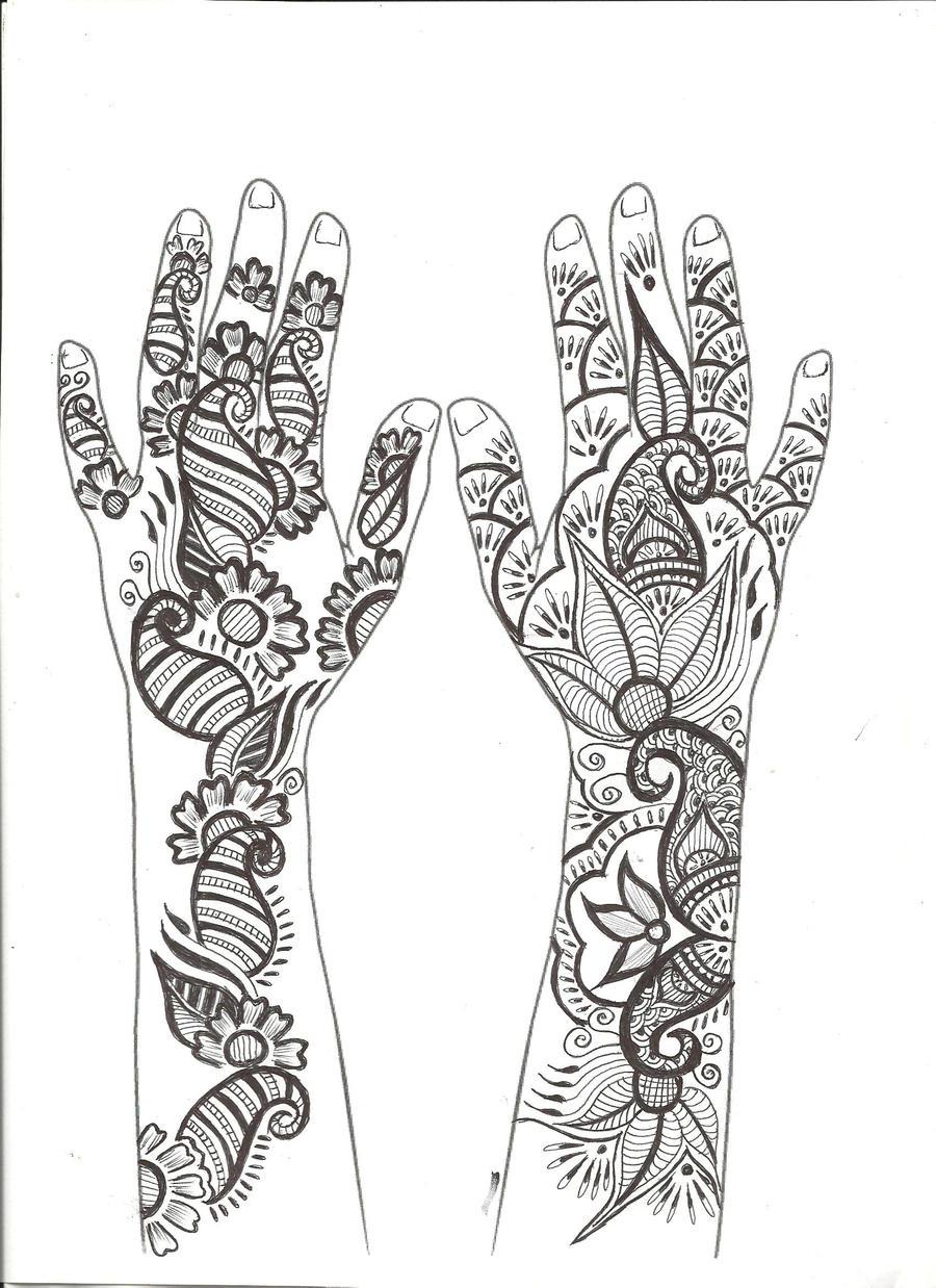Floral Arabic Mehndi Design by sargamguptaa on DeviantArt