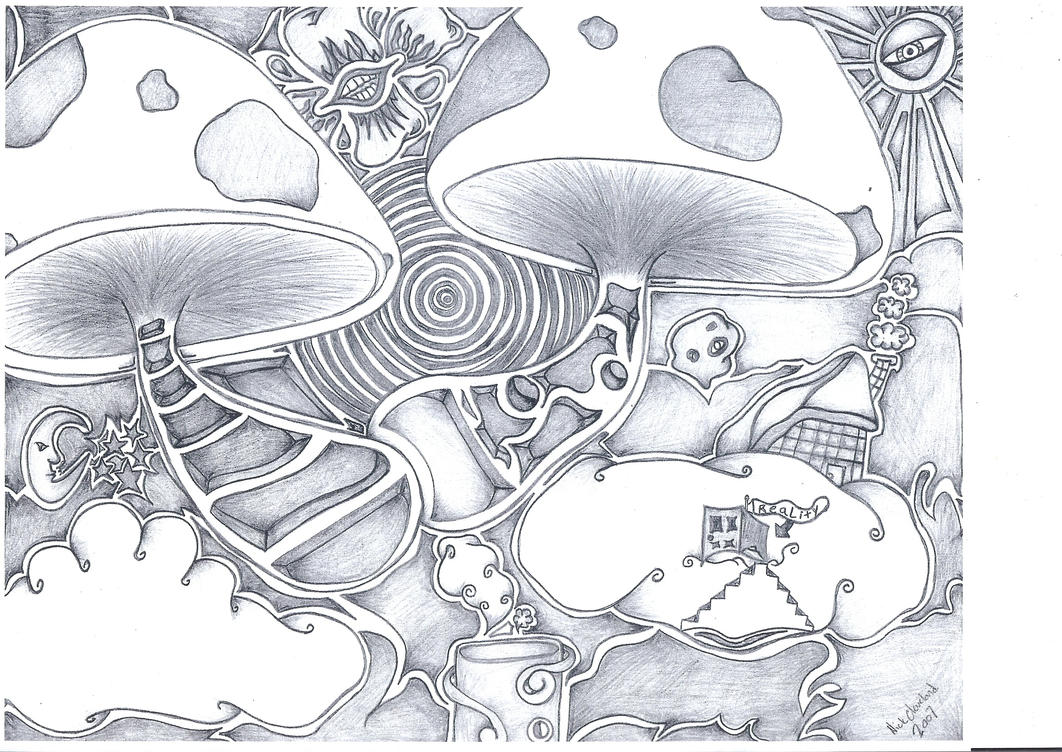 trippy coloring pages mushrooms health - photo#24