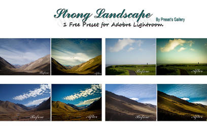 LR Preset : Strong Landscape by xcamilah