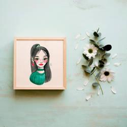 Green lucky girl by kaze9th