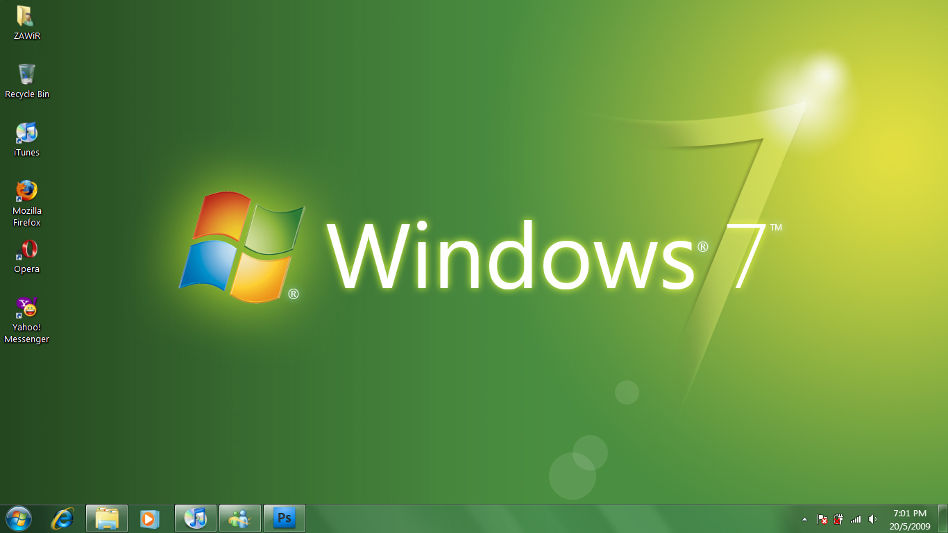 Window 7 desktop