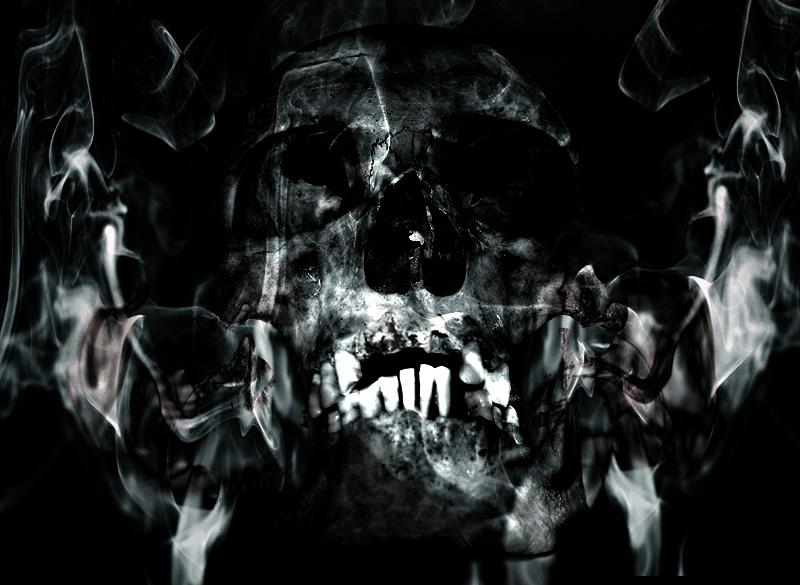 Smoke Skull by x-ReaperLadyDeath-x