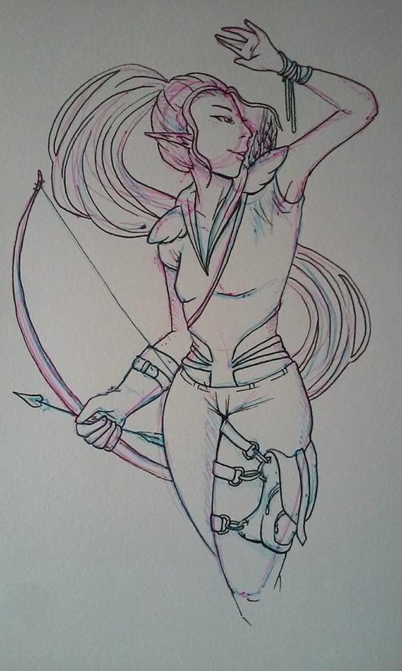 Drow Hunter by Miss-Neko-Noir