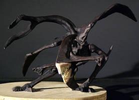 Pitch Black creature sculpt by Firebli9ht