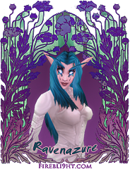 Night Elf Signature Ravenazure by Firebli9ht