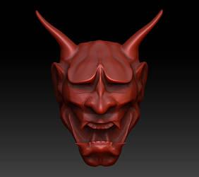 Hannya Mask in progress
