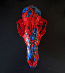 The Red Red Fox skull painting