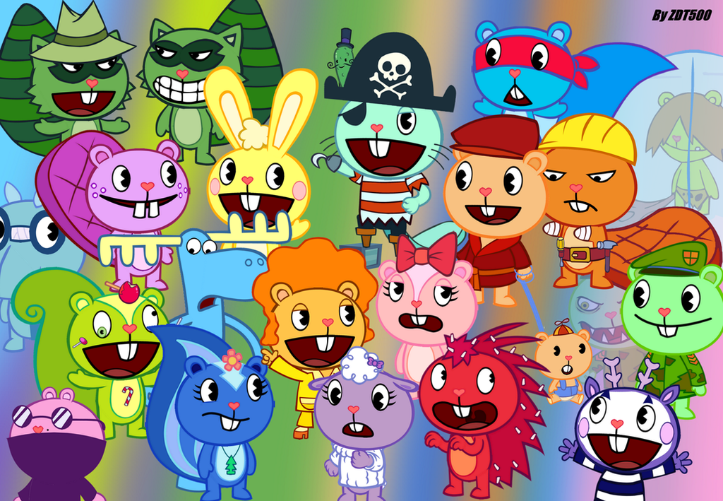 Happy Tree Friends is an animated flash series created and developed by Aubrey Ankrum Rhode Montijo Kenn Navarro and Warren Graff for Mondo Media