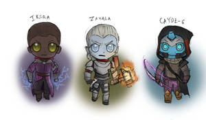 Vanguard Chibis by SteamMouse