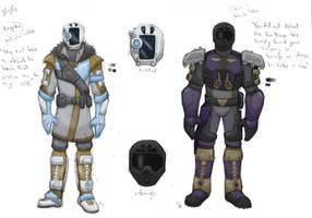Bionicle/Destiny - Kopaka and Onua by SteamMouse