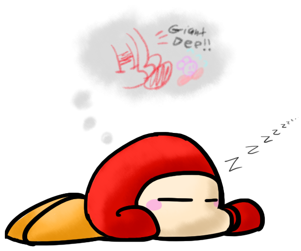 Waddle Dee Is Sleeping By Marxsoui On Deviantart