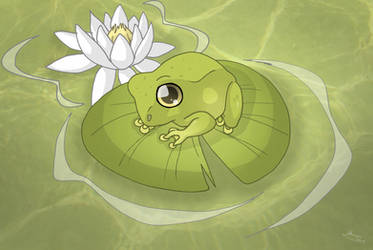 Cute Froggy by Almairis