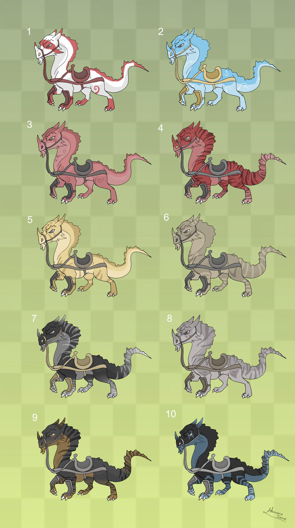 [Sold] Adoptables: Dragon Mounts 1 by MySweetQueen