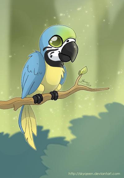 Cute Macaw by Almairis