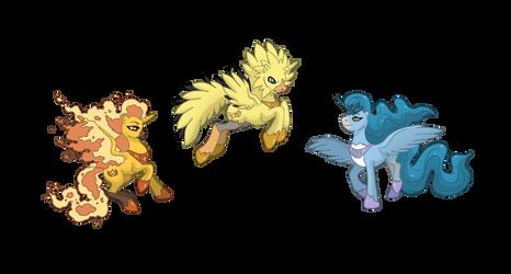 Ponikemon Trio of Kanto