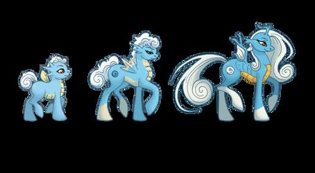 Seahorse Family Ponikemon by Almairis