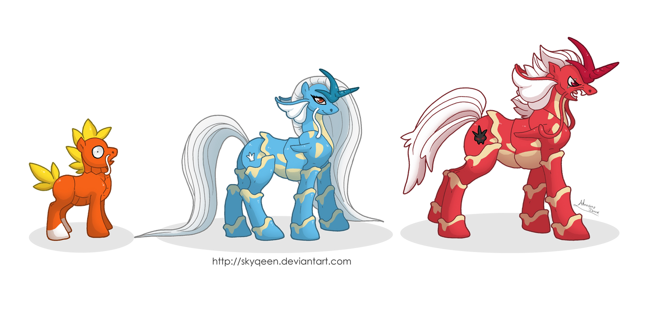 FuryLake Family Ponikemon by MySweetQueen