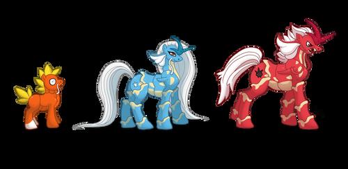 FuryLake Family Ponikemon by Almairis