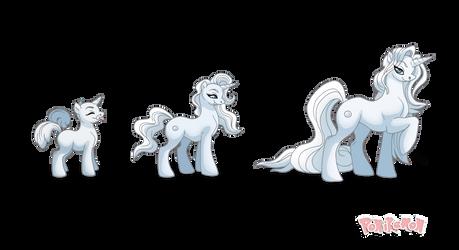 Pearl Family Ponikemon by Almairis