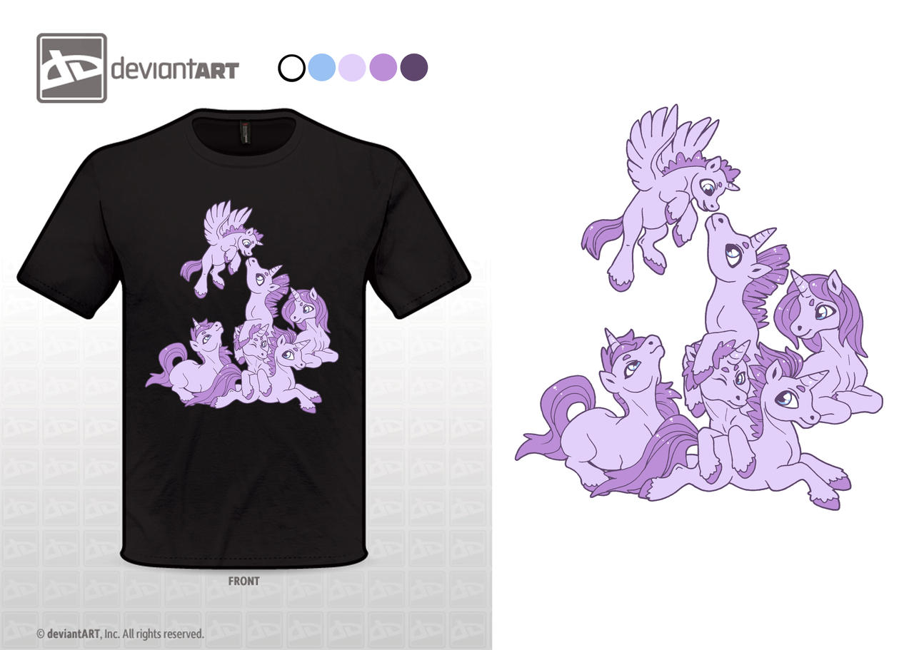 Violet Unicorns by MySweetQueen