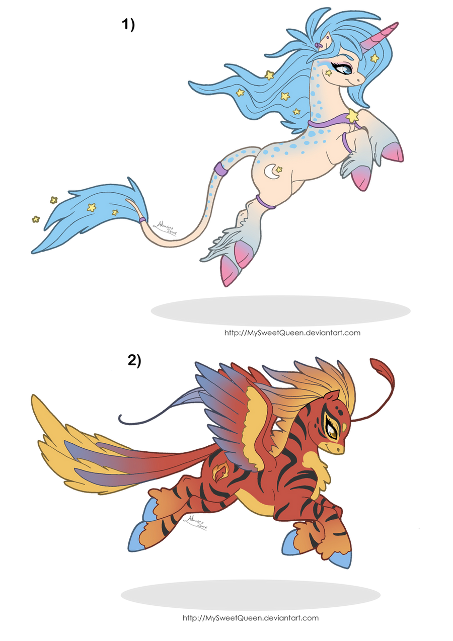 [Sold] Adoptables: Fantasy Ponies by MySweetQueen