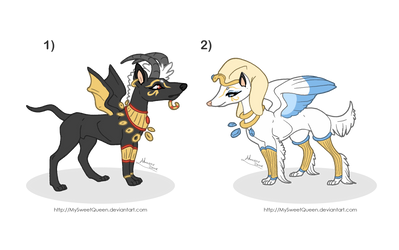 [Sold] Adoptables: Egyptian Guardians by Almairis