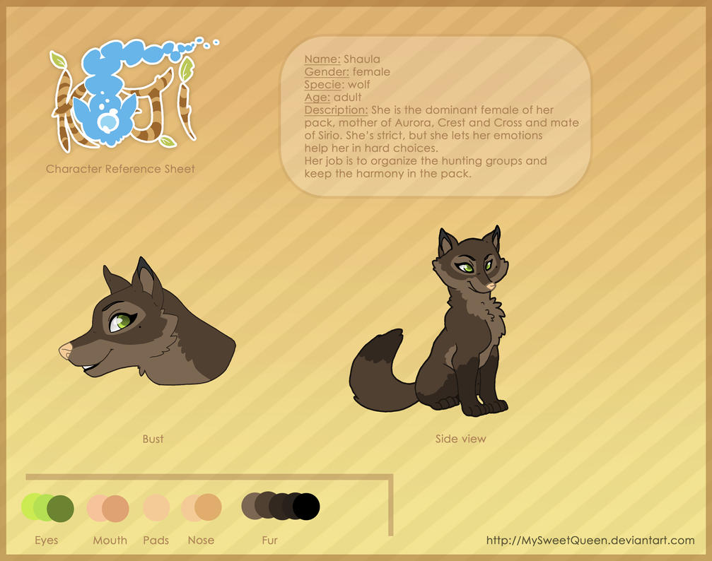 Shaula Reference Sheet by MySweetQueen