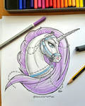 Tattoo Design: Lady Unicorn